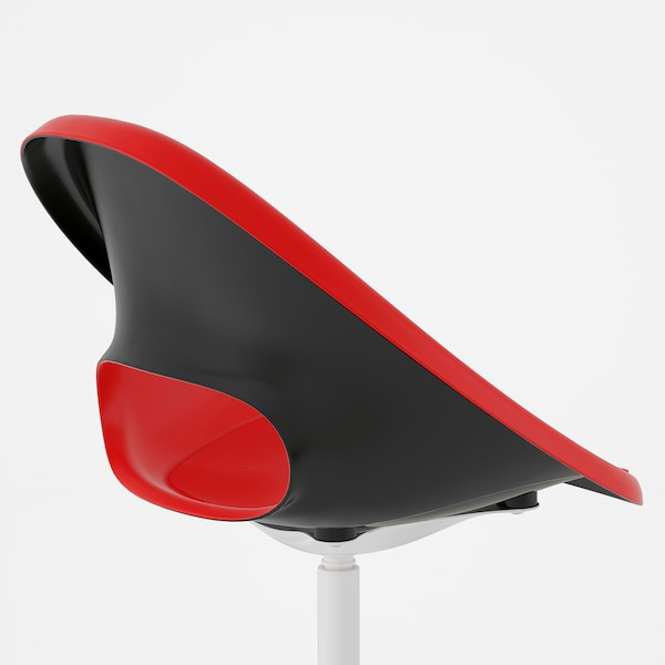 ELDBERGET / BLYSKÄR Swivel chair, red/white