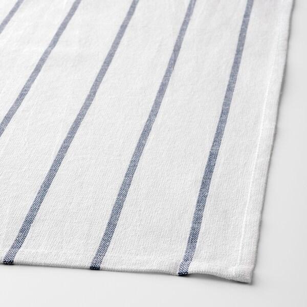 "ELLY Dish towel, white/blue, 20x26 """