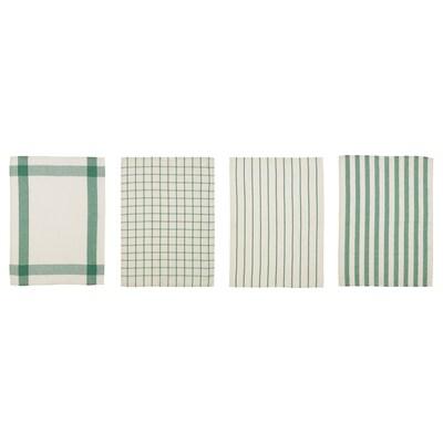 "ELLY Dish towel, white/green, 20x26 """