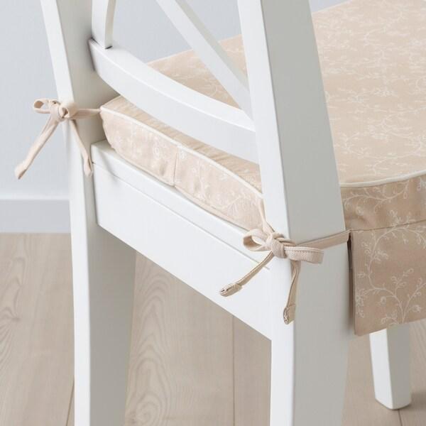 "ELSEBET Chair pad, light beige, 17x17x2 """