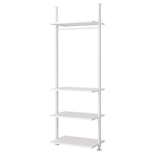 """ELVARLI shelf unit white 36 1/8 """" 20 """" 87 1/4 """" 137 3/4 """""""