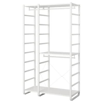 "ELVARLI 2 section shelving unit, white, 49 1/8x21 5/8x85 """