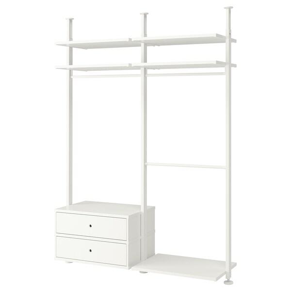"ELVARLI 2 section shelving unit, white, 68 7/8x20x87 1/4-137 3/4 """