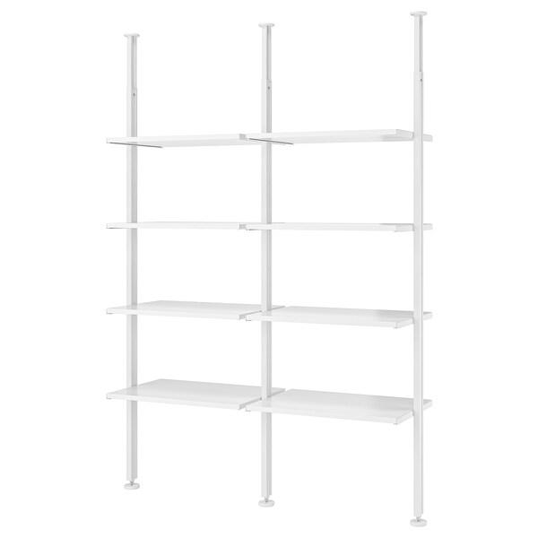 "ELVARLI 2 section shelving unit, white, 69x20x87 1/4-137 3/4 """