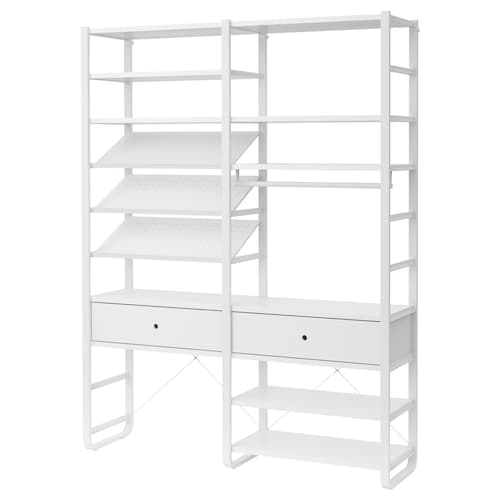 IKEA ELVARLI 2 section shelving unit