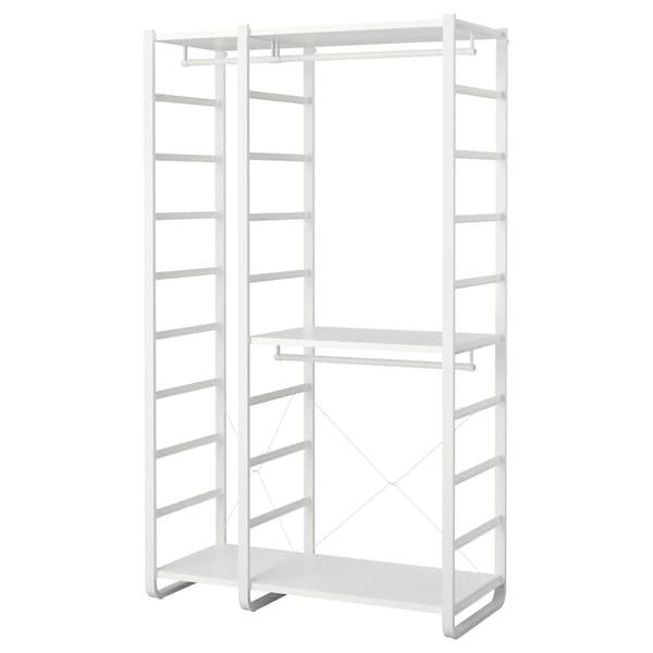 "ELVARLI 2 section shelving unit white 49 1/8 "" 21 5/8 "" 85 """