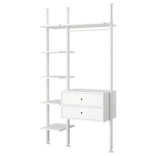 IKEA ELVARLI 2 section shelving unit