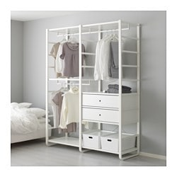 ELVARLI 2 section shelving unit, white