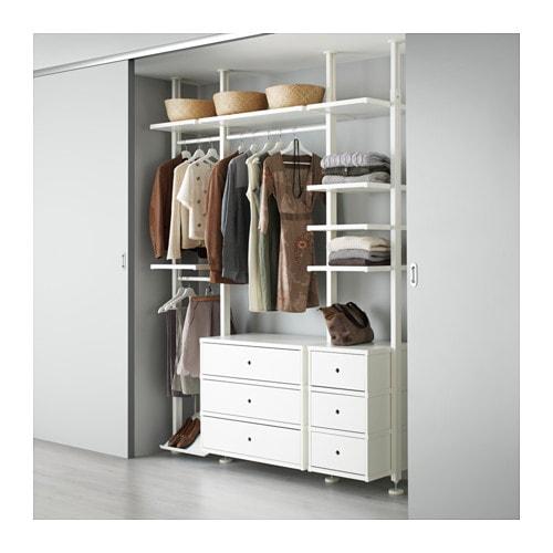 Open Bedroom Storage: ELVARLI 3 Sections