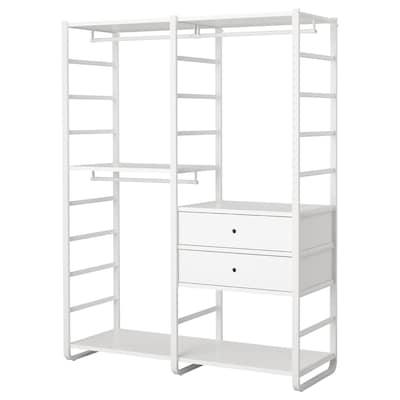 "ELVARLI Wardrobe combination, white, 64 7/8x21 5/8x85 """