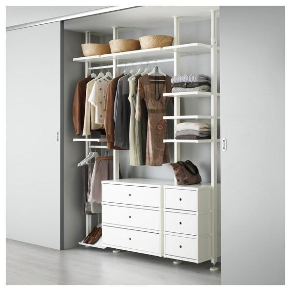 "ELVARLI Wardrobe combination, white, 70 1/4x20x87 1/4-137 3/4 """