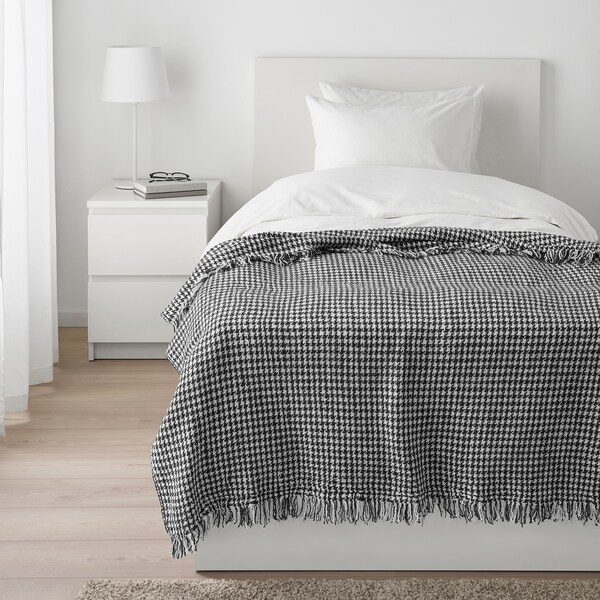 EMMASOFIE Throw, gray/white, 51x67 ""
