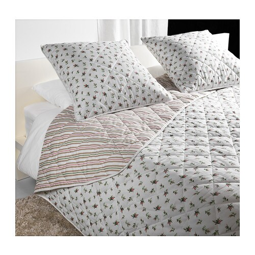 EMMIE BLOM Bedspread and 2 cushion covers IKEA Quilted bedspread and cushion cover; extra soft.  Reversible bedspread and cushion cover.