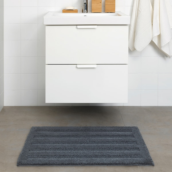 """EMTEN Bath mat, dark gray, 20x32 """""""