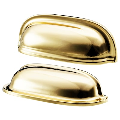 """ENERYDA cup cabinet pull brass color 3 1/2 """" 3/16 """" 2 1/2 """" 1 3/16 """" 7/8 """" 2 pack"""