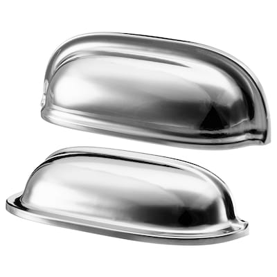 """ENERYDA cup cabinet pull chrome plated 3 1/2 """" 7/8 """" 1 3/16 """" 3/16 """" 2 1/2 """" 2 pack"""