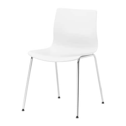 ERLAND Chair IKEA Rounded back for additional sitting comfort.
