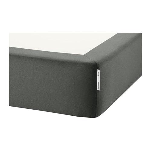 ESPEVÄR Spring mattress base for bed frame, dark gray Twin dark gray