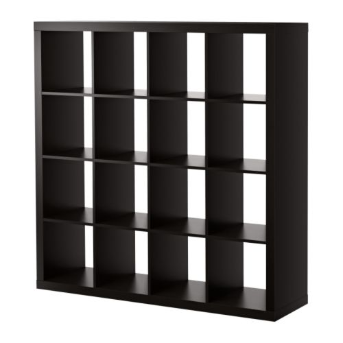 "EXPEDIT Bookcase, black-brown Width: 58 5/8 "" Depth: 15 3/8 "" Height: 58 5/8 "" Max load/shelf: 29 lb  Width: 149 cm Depth: 39 cm Height: 149 cm Max load/shelf: 13 kg"