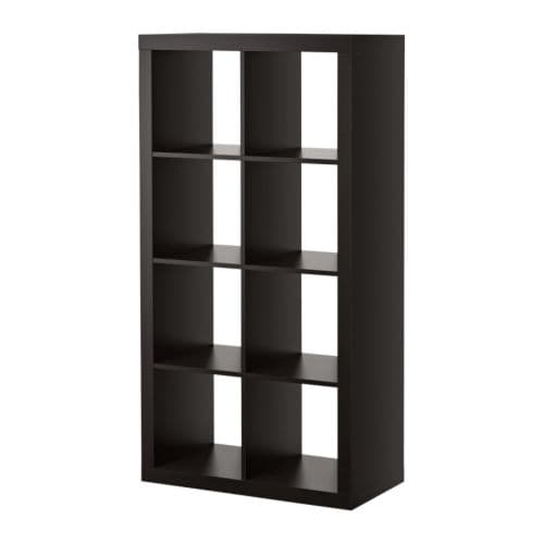 "EXPEDIT Bookcase, black-brown Width: 31 1/8 "" Depth: 15 3/8 "" Height: 58 5/8 "" Max load/shelf: 29 lb  Width: 79 cm Depth: 39 cm Height: 149 cm Max load/shelf: 13 kg"