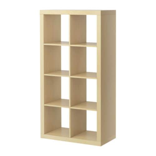 EXPEDIT Shelving unit IKEA You can use the furniture as a room divider because it looks good from every angle.