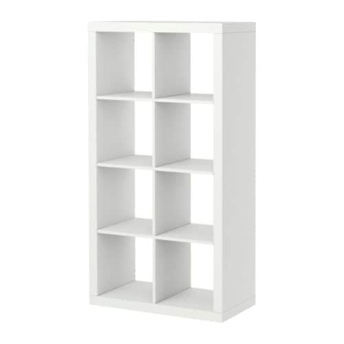 "EXPEDIT Shelving unit, white Width: 31 1/8 "" Depth: 15 3/8 "" Height: 58 5/8 "" Max load/shelf: 29 lb  Width: 79 cm Depth: 39 cm Height: 149 cm Max load/shelf: 13 kg"