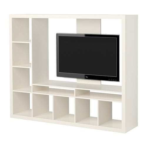 EXPEDIT TV storage unit IKEA The shelves can be placed to the left or right. Choose the placement that suits you best.