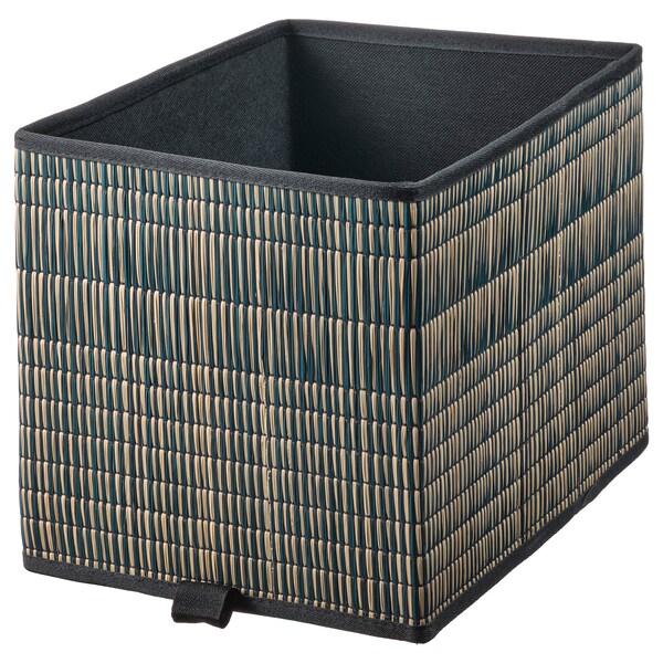 "EXTRAKNÄCK Basket, seagrass/black, 9 ¾x13 ¾x9 ¾ """
