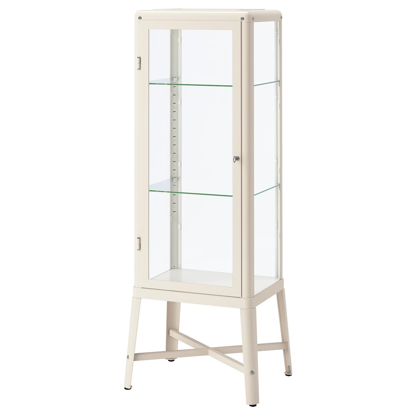 Retro Tv Meubel Ikea.Fabrikor Glass Door Cabinet Beige 22 1 2x59 Ikea