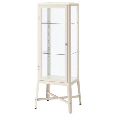 """FABRIKÖR glass-door cabinet beige 22 1/2 """" 18 1/2 """" 59 """" 22 lb"""