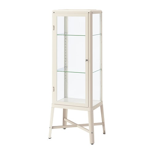Fabrikor Glass Door Cabinet Beige Ikea