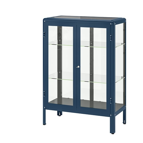 Fabrikr Glass Door Cabinet Black Blue Ikea
