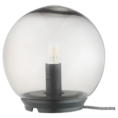 "FADO Table lamp with LED bulb, gray, 6 3/4 """