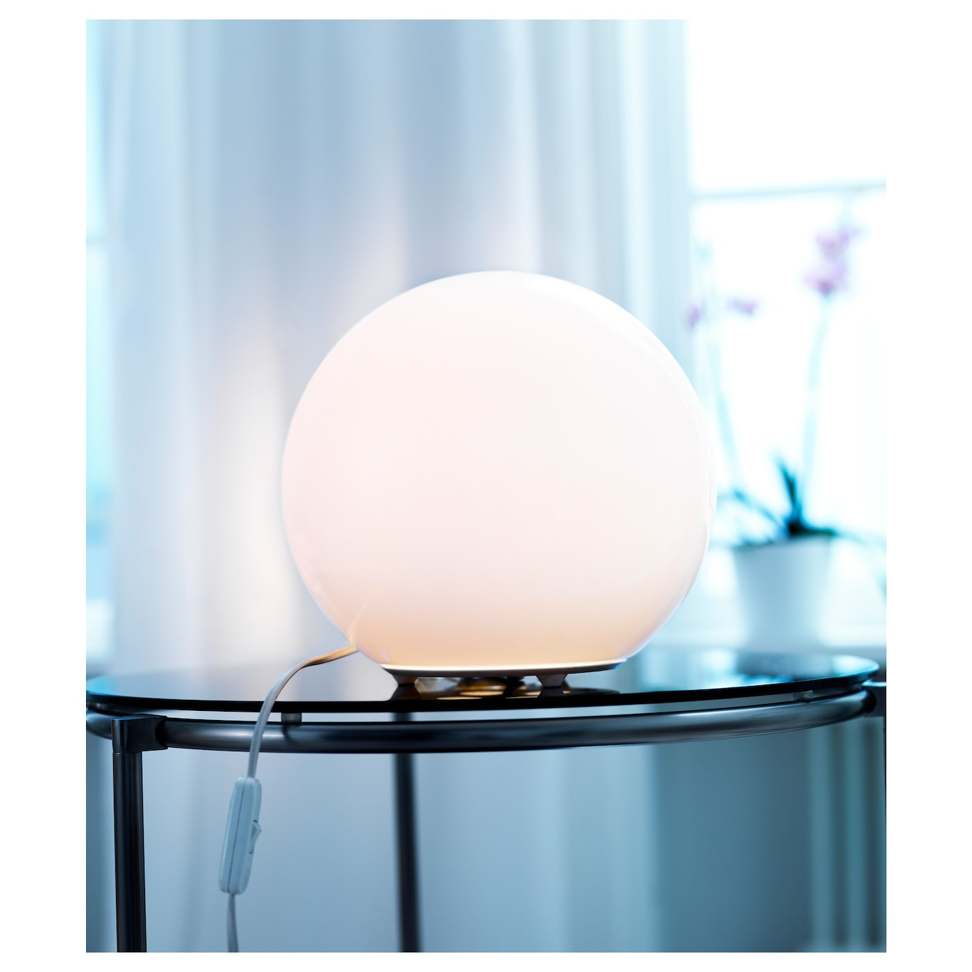 Lampadari A Pale Ikea.Fado Table Lamp With Led Bulb White Ikea