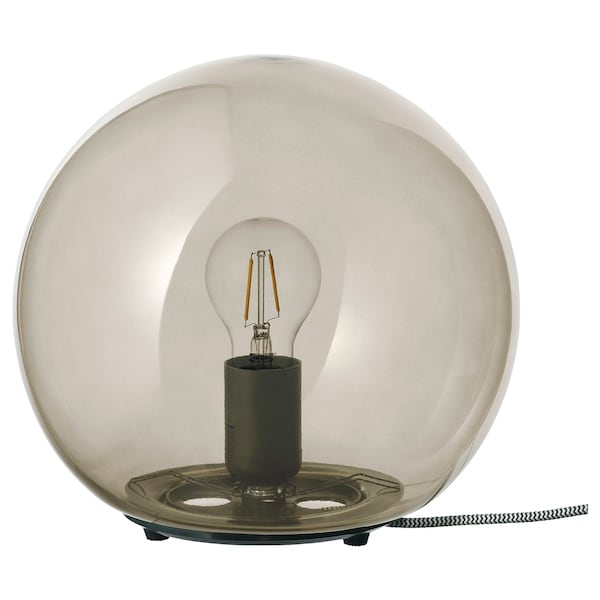 "FADO table lamp with LED bulb gray 9 "" 10 "" 5 ' 11 """