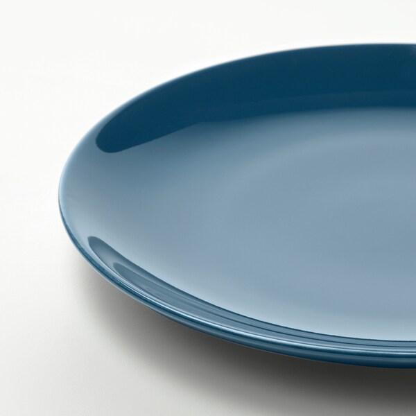 FÄRGRIK 18-piece dinnerware set, dark turquoise