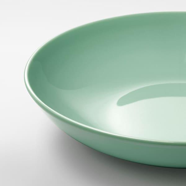 "FÄRGRIK Deep plate/bowl, light green, 9 ½ """