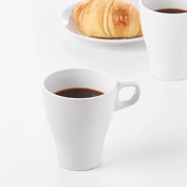 FÄRGRIK Mug, stoneware white, 8 oz