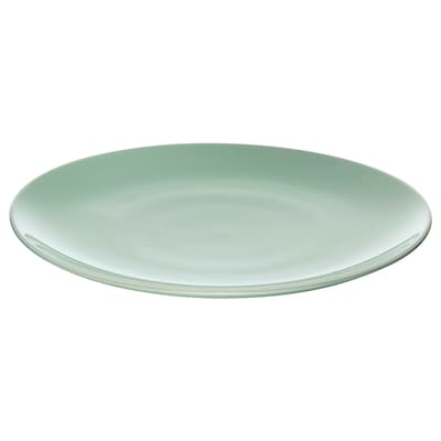 FÄRGRIK Plate, light green, 10 ¾ ""