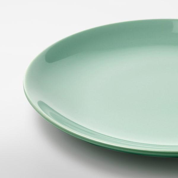 """FÄRGRIK Side plate, light green, 8 """""""