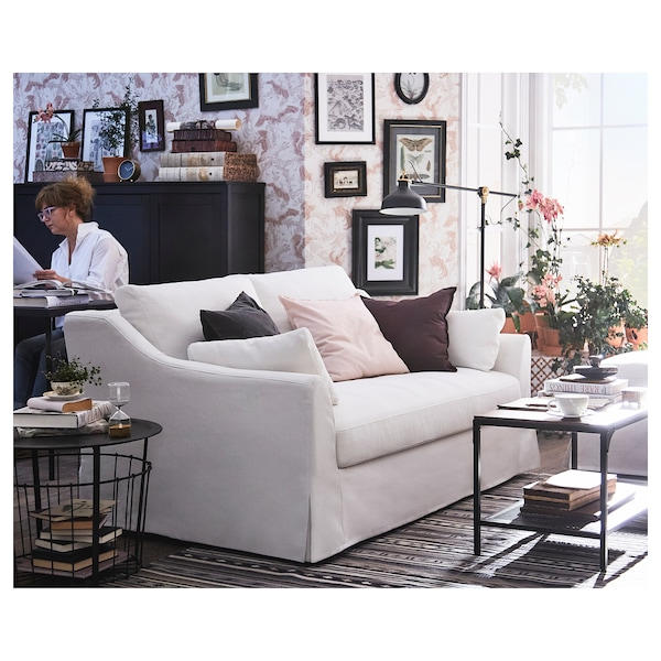 "FÄRLÖV loveseat Flodafors white 34 5/8 "" 70 1/8 "" 41 3/4 "" 5 7/8 "" 24 "" 59 1/2 "" 25 1/4 "" 18 7/8 """