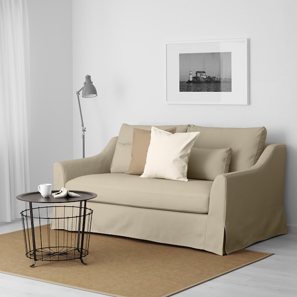 Magnificent Loveseat Farlov Flodafors Beige Bralicious Painted Fabric Chair Ideas Braliciousco
