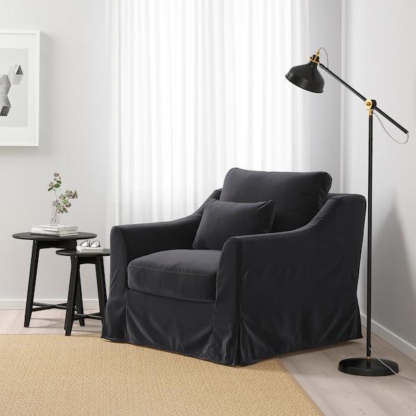 FÄRLÖV Armchair, Djuparp dark gray