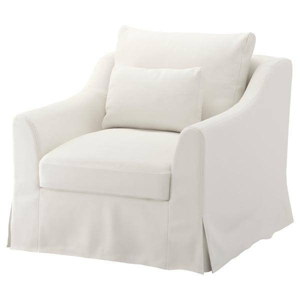 "FÄRLÖV armchair Flodafors white 34 5/8 "" 36 5/8 "" 39 3/4 "" 5 7/8 "" 24 "" 26 "" 25 1/4 "" 18 7/8 """