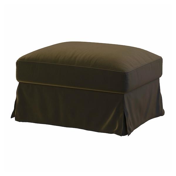 FÄRLÖV Cover for ottoman with storage, Djuparp dark olive-green