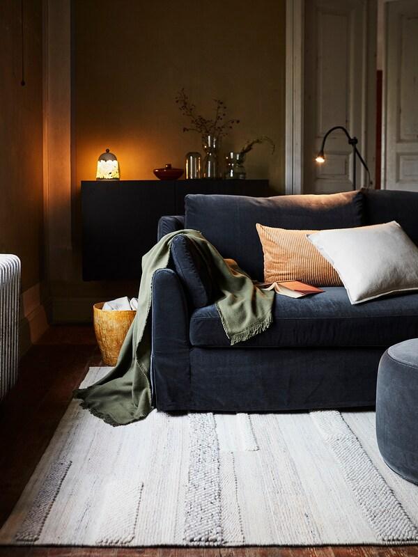 FÄRLÖV Sleeper sofa, Djuparp dark gray