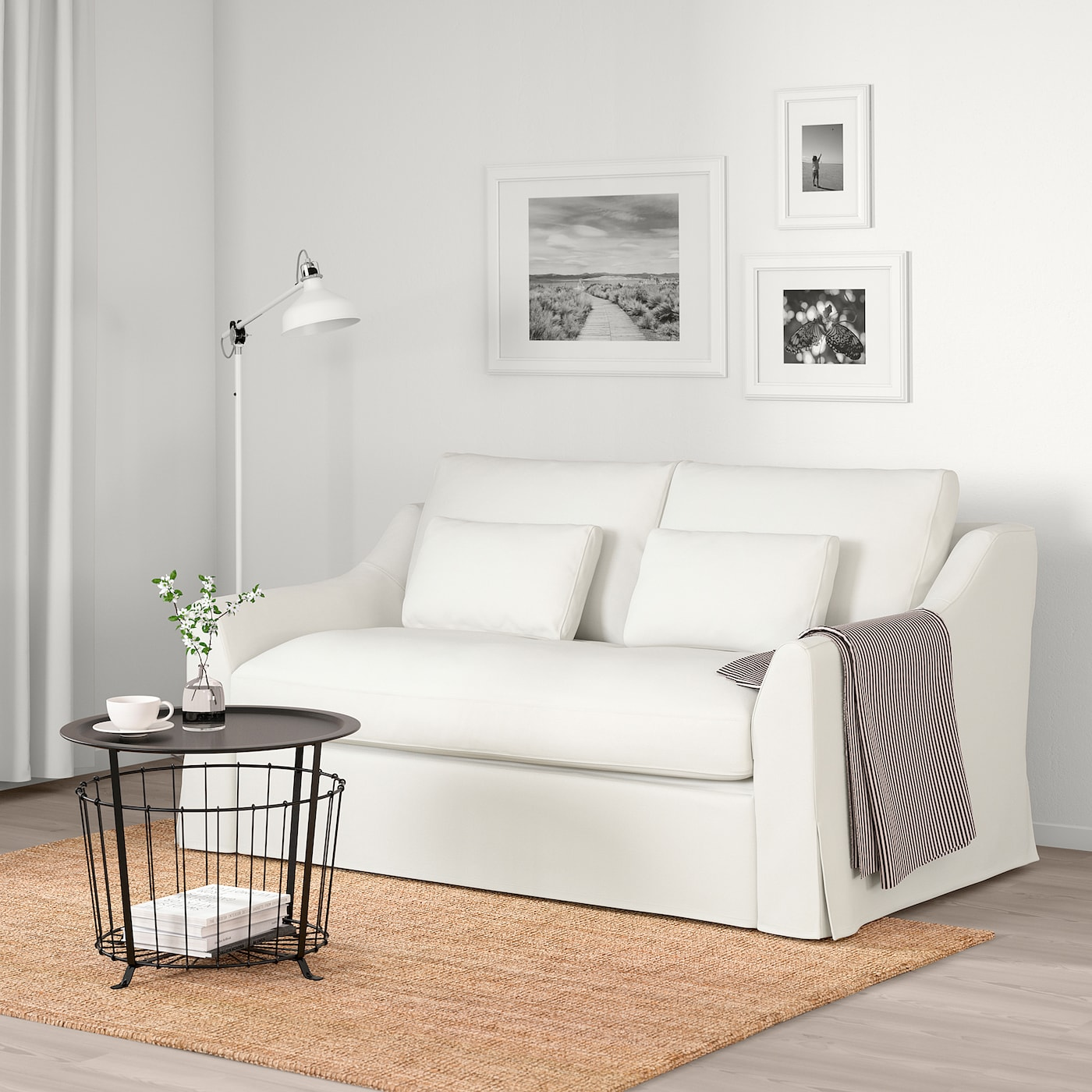 FÄRLÖV Sleeper Sofa, Flodafors White - IKEA