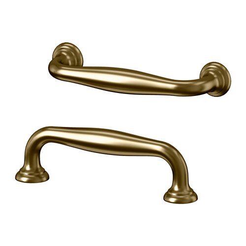 FÅGLAVIK Handle IKEA These brass handles give a good grip and add a traditional look to your kitchen.