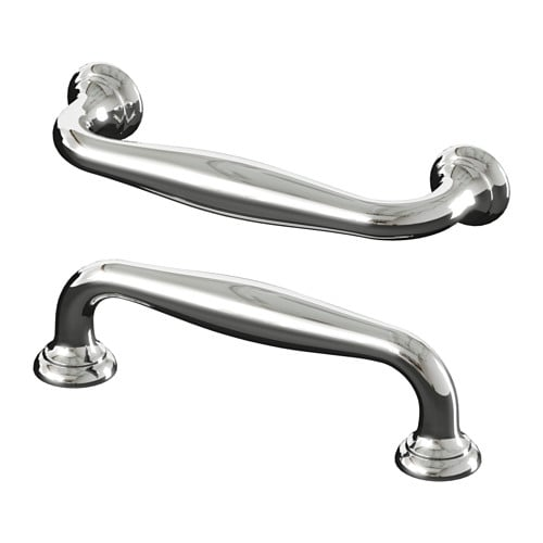 FÅGLAVIK Handle IKEA These chrome-plated handles give a good grip and add a traditional look to your kitchen.