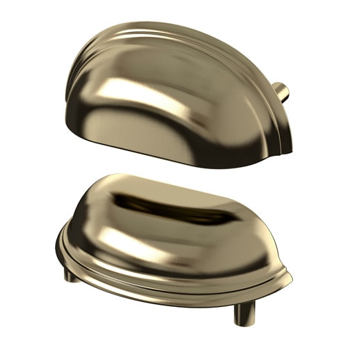 FÅGLEBODA Handle IKEA These handles give a sturdy grip thanks to the cup shape, and add a traditional look to your kitchen.